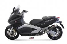 Ολόσωμη Εξάτμιση Mivv GP Μαύρη GP 800 2008-2012 Ανοξείδωτη