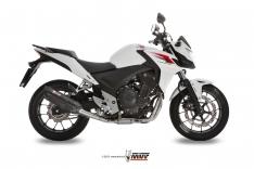 Τελικό Εξάτμισης Mivv Suono Μαύρη CB 500F CB 500X CBR 500R 2013-2015 Ανοξείδωτη
