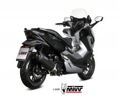 Τελικό Εξάτμισης Mivv Mover Μαύρο Forza 300 2018-2020 Ανοξείδωτο