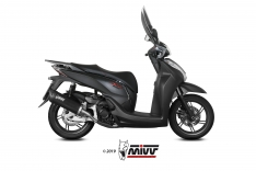 Τελικό Εξάτμισης Mivv Mover Μαύρο SH 300 2007-2020 Ανοξείδωτο