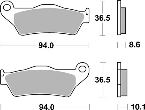 Τακάκια Πίσω AP Racing BMW R 1200 GS 04-17 / S 1000 XR 15-19