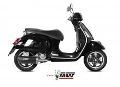 Τελικό Εξάτμισης Mivv Mover Μαύρο Vespa GTS 300 2008-2021 Ανοξείδωτο