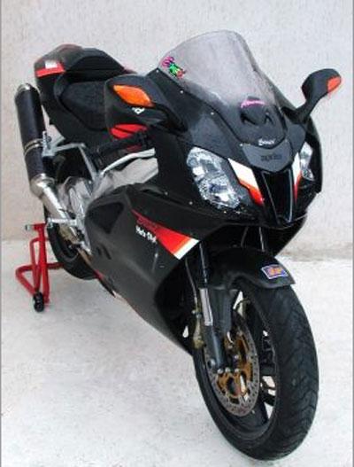 Ζελατίνα RSV 1000R Ermax Κουρμπαριστή 2004-2008 Aprilia Σκούρο Φιμέ