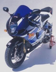 Ζελατίνα GSXR 1000 Κουρμπαριστή Ermax 2003-2004 Suzuki Σκούρο Φιμέ