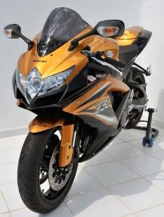 Ζελατίνα GSXR 600/750 Κουρμπαριστή Ermax 2008-2010 Suzuki Σκούρο Φιμέ
