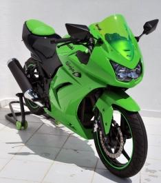 Ζελατίνα Ninja 250 R Κουρμπαριστή Ermax 2008-2012 Kawasaki Σκούρο Φιμέ 36cm