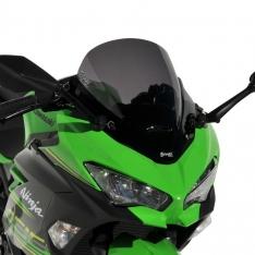 Ζελατίνα Ninja 400 Κουρμπαριστή Ermax 2018-2019 Kawasaki Σκούρο Φιμέ