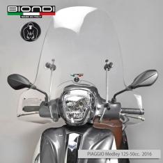 Ζελατίνα Medley 125/150 2016-2018 Piaggio Biondi Ψηλή Club Διάφανη 67x71cm