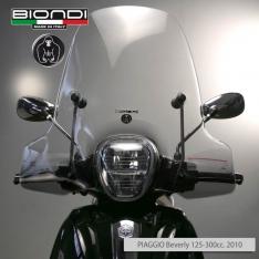 Ζελατίνα Beverly 300/350 2010-2016 Piaggio Biondi Ψηλή Club Διάφανη 71x66cm
