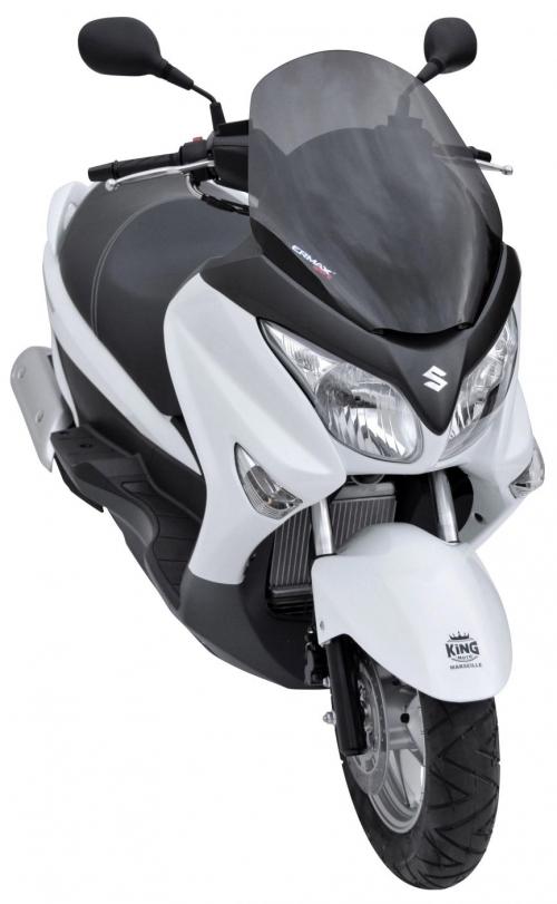 Ζελατίνα Burgman 200 Ermax Κοντή 2007-2020 Suzuki Σκούρο Φιμέ 54cm
