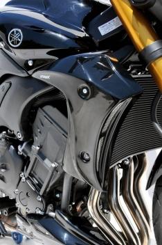 Αεραγωγοί Ψυγείου FZ8 Ermax 2010-2017 Yamaha Μαύροι