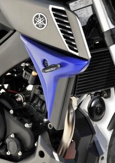 Αεραγωγοί Ψυγείου MT 125 Ermax 2014-2019 Yamaha Μαύροι