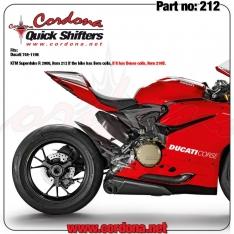 Cordona Quickshifter PQ8 Ducati Twin Εγκέφαλο Ecu και Πλεξούδα για aftermarket ποδοστήρια