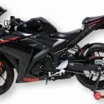 Φτερό Πίσω Τροχού YZF R3 Ermax 2015-2018 Yamaha Μαύρο Άβαφο Πλαστικό