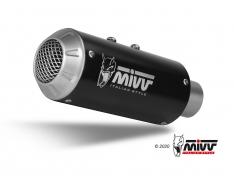 Τελικό Εξάτμισης Mivv MK3 Μαύρη Tuono V4 1100 2018-2020 Ανοξείδωτη