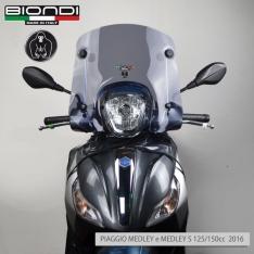 Ζελατίνα Medley 125/150 2016-2018 Piaggio Biondi Κοντή Club Ελαφρώς Φιμέ 34x41cm