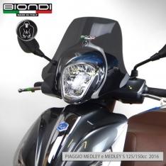 Ζελατίνα Medley 125/150 2016-2018 Piaggio Biondi Κοντή Wild Σκούρο Φιμέ 34x41cm