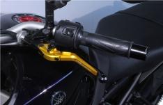 Μανέτα Αμπραγιάζ Yamaha MT 09 2014-2020 MG Biketec Σπαστή Χρυσή