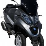 Ζελατίνα MP3 350/500 HPE Ermax Κοντή 2018-2020 Piaggio Σκούρο Φιμέ 51cm