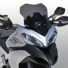 Ζελατίνα Multistrada 1200 S Ermax Κοντή 2013-2014 Ducati Σκούρο Φιμέ 39cm
