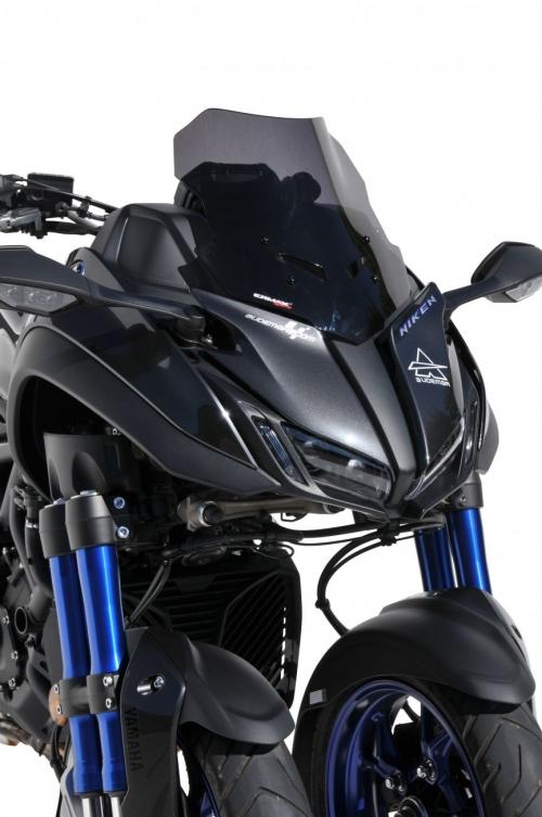 Ζελατίνα Niken Ermax Κοντή 2018-2020 Yamaha Σκούρο Φιμέ 35cm