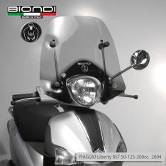 Ζελατίνα Liberty S I-Get 150 2004-2020 Piaggio Biondi Κοντή Ελαφρώς Φιμέ 48x46cm