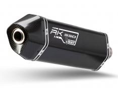 Ολόσωμη Εξάτμιση Mivv Speed Edge Μαύρη AK 550 2017-2020 Ανοξείδωτη