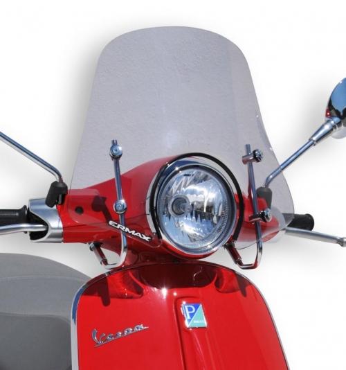 Ζελατίνα Primavera 125 Ermax Sportivo Ψηλή 2014-2019 Vespa Ελαφρώς Φιμέ 45cm