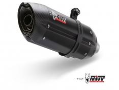 Ολόσωμη Εξάτμιση Mivv Suono Μαύρη GP 800 2008-2012 Ανοξείδωτη