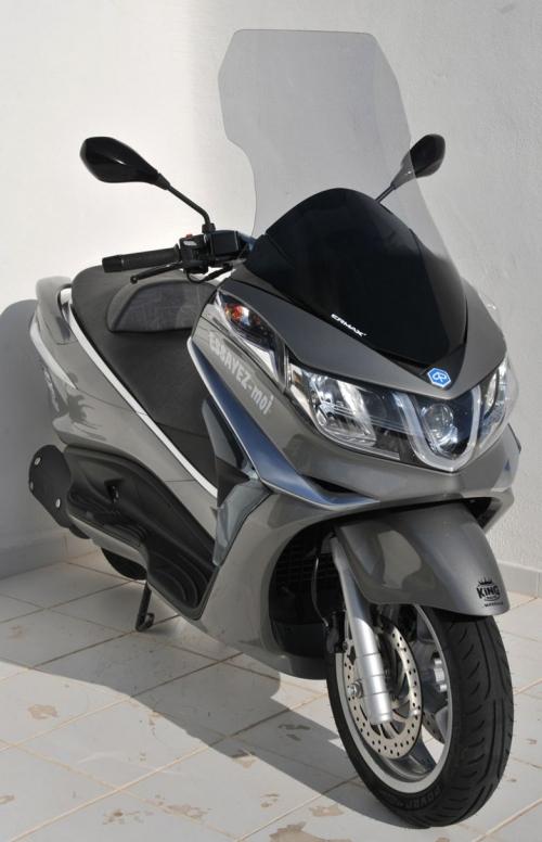 Ζελατίνα X10 125/350/500 Ermax Ψηλή 2012-2017 Piaggio Ελαφρώς Φιμέ 81cm