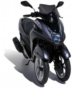 Ζελατίνα Tricity 125/155 Ermax Κοντή 2014-2020 Yamaha Σκούρο Φιμέ 35cm